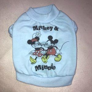 Disney Mickey Minnie Dog Pet XS Animal Tee T-Shirt